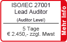 ISO/IEC 27001 Lead Auditor Schulung in Frankfurt