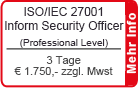 ISO/IEC 27001 IT Security Officer Schulung Frankfurt