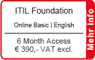 "ITIL Foundation Online Training English ""Basic"" 