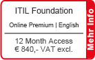 "ITIL Foundation Online Training English ""Premium"" 
