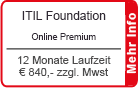 "ITIL Foundation Online Training ""Premium"" 