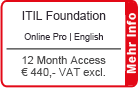 "ITIL Foundation Online Training English ""Pro"" 