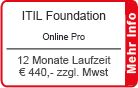 "ITIL Foundation Online Training ""Pro"" 