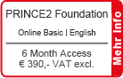 "PRINCE2 Foundation Online Training English ""Basic"" 