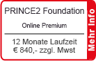 "PRINCE2 Foundation Online Training ""Premium"" 