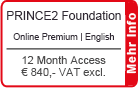 "PRINCE2 Foundation Online Training English ""Premium"" 