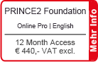 "PRINCE2 Foundation Online Training English ""Pro"" 