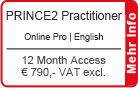 "PRINCE2 Practitioner Online Training English ""Pro"" 