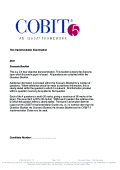 Sample Paper | COBIT 5 Implementation (Englisch)