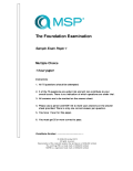 Sample Paper 1 | MSP Foundation (English)