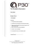 Sample Paper 2 | P3O Foundation (English)